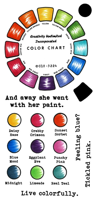 Inky Antics COLOR WHEEL Clear Stamp Set 11428lc zoom image