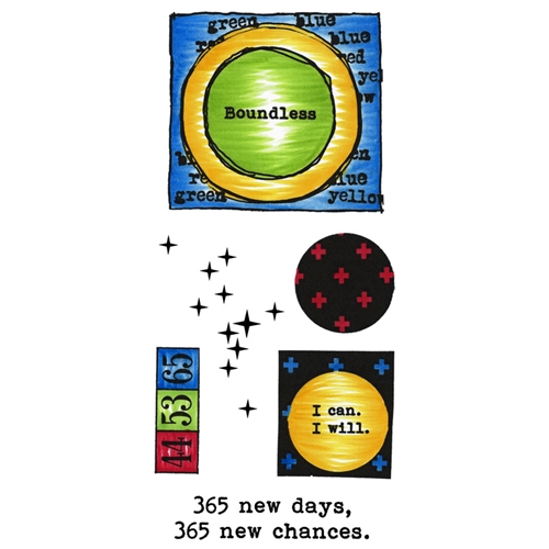 Inky Antics CIRCLES & FRAMES Clear Stamp Set 11429lc Preview Image