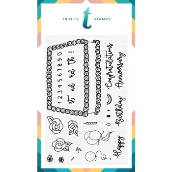Trinity Stamps DECORATE A CAKE Clear Stamp Set 1542608092*
