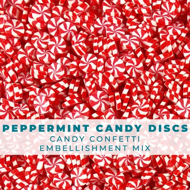 Trinity Stamps PEPPERMINT CANDY CONFETTI SPRINKLES Embellishment Box 170886 zoom image