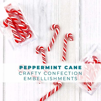 Trinity Stamps PEPPERMINT CANDY CANE Embellishment Box 607825