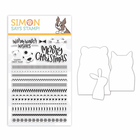 Simon Says Stamps And Dies CRITTER SWEATERS set334cs Fun And Festive zoom image