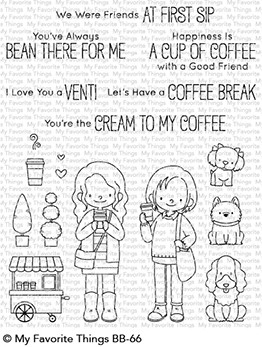My Favorite Things FRIENDS AT FIRST SIP Clear Stamps BB66