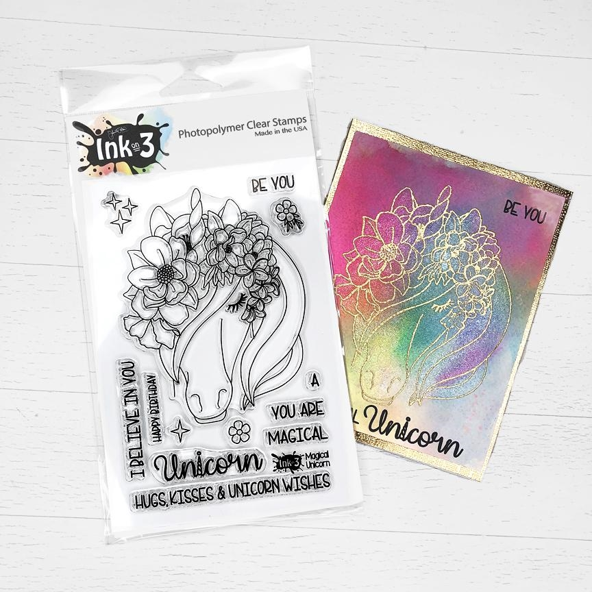Inkon3 MAGICAL UNICORN Clear Stamps 98767 zoom image
