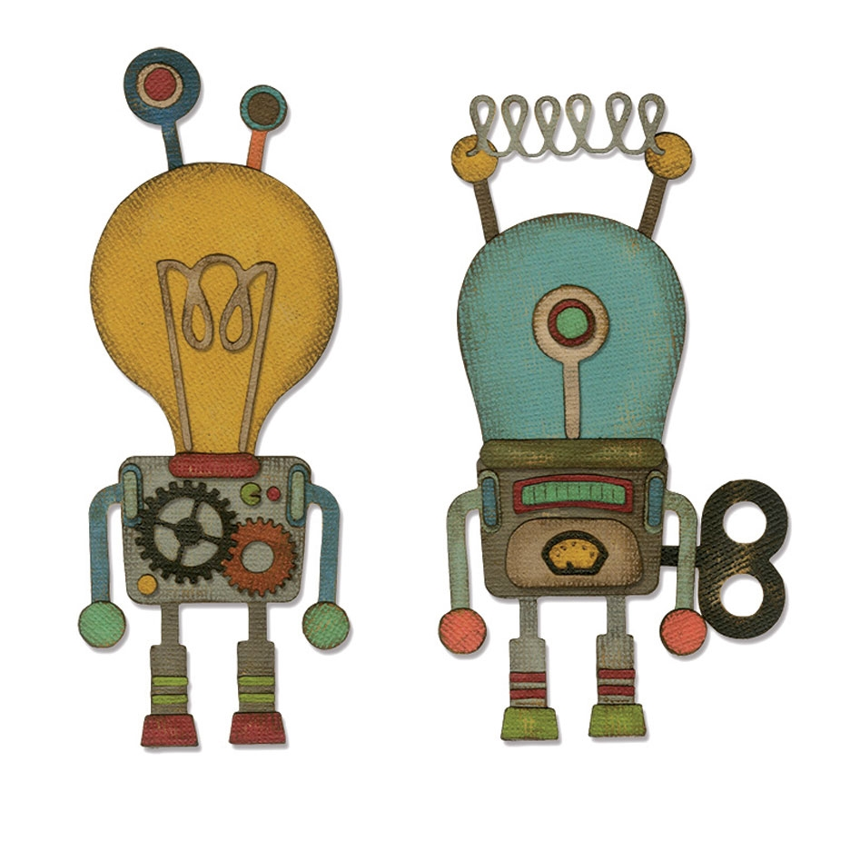 Tim Holtz Sizzix ROBOTIC Thinlits Die 664162 zoom image