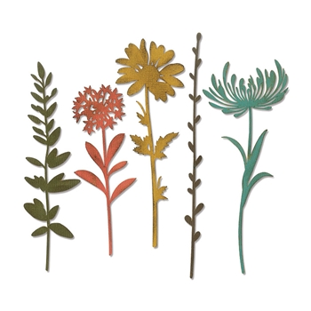 Tim Holtz Sizzix WILDFLOWER STEMS 1 Thinlits Die 664163