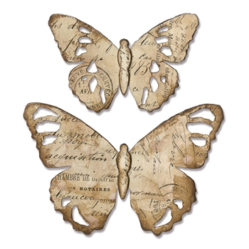 Tim Holtz Sizzix TATTERED BUTTERFLY Bigz Die 664166