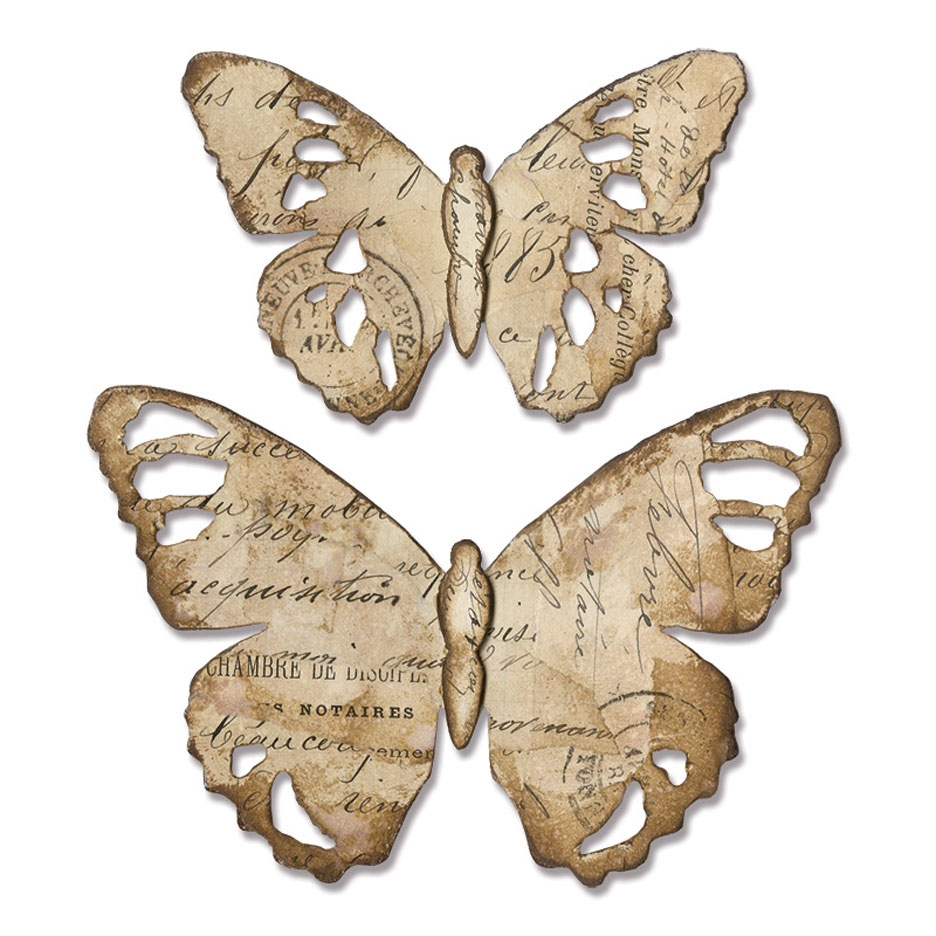 Tim Holtz Sizzix TATTERED BUTTERFLY Bigz Die 664166 zoom image