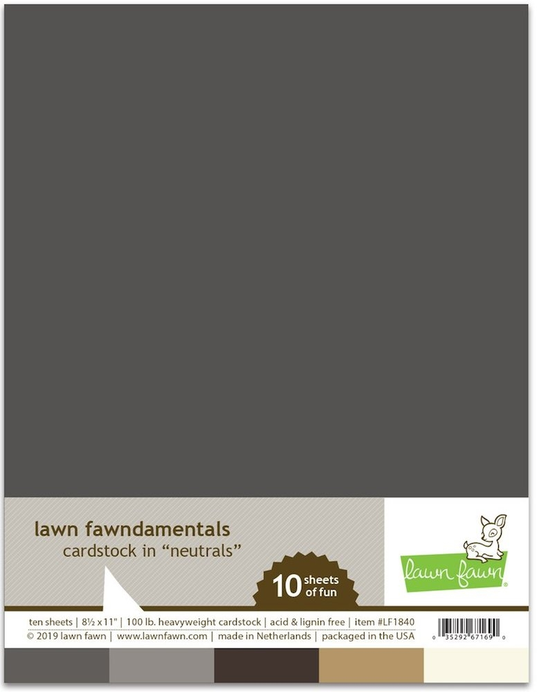 Lawn Fawn NEUTRALS Cardstock Assortment Pack LF1840 zoom image