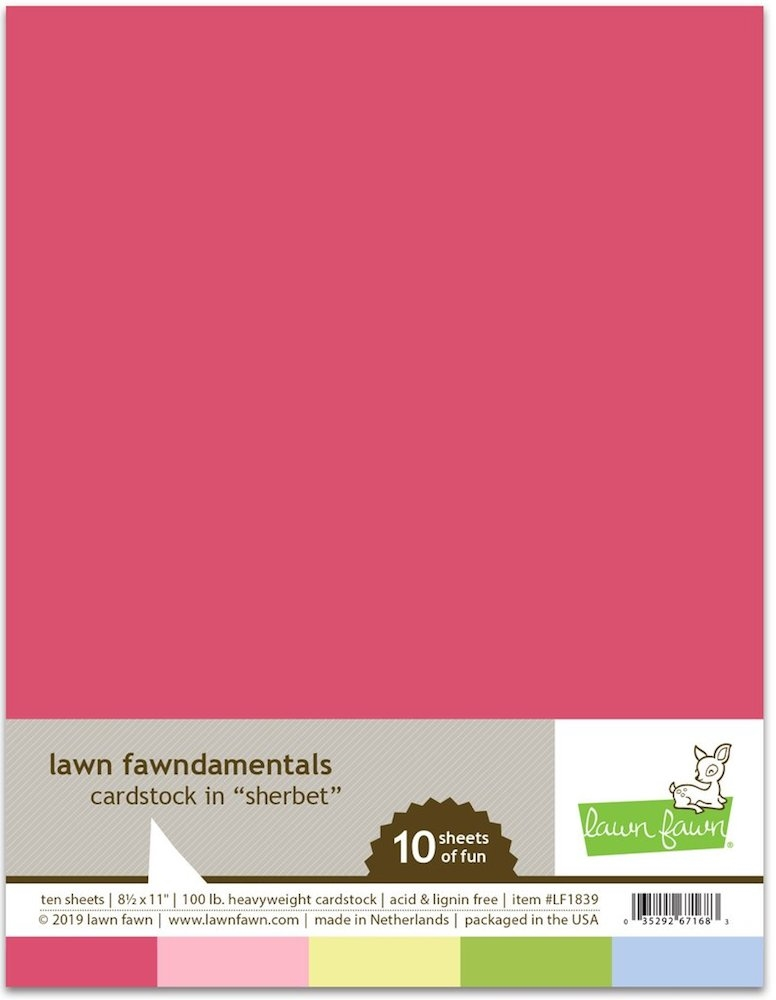 Lawn Fawn SHERBET Cardstock Assortment Pack LF1839 zoom image