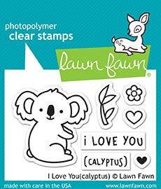Lawn Fawn I LOVE YOU(CALYPTUS) Clear Stamps LF1823