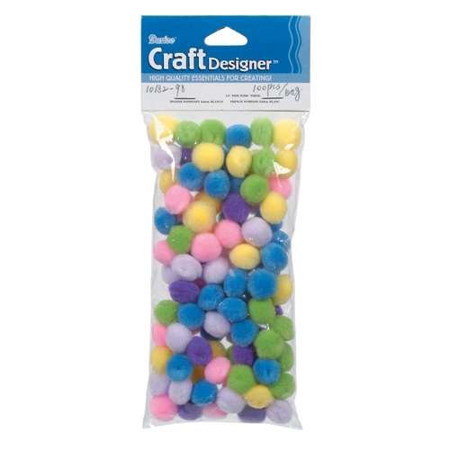 Darice Pom Poms SPRING ASSORTMENT 100 Pack 1018298 Preview Image
