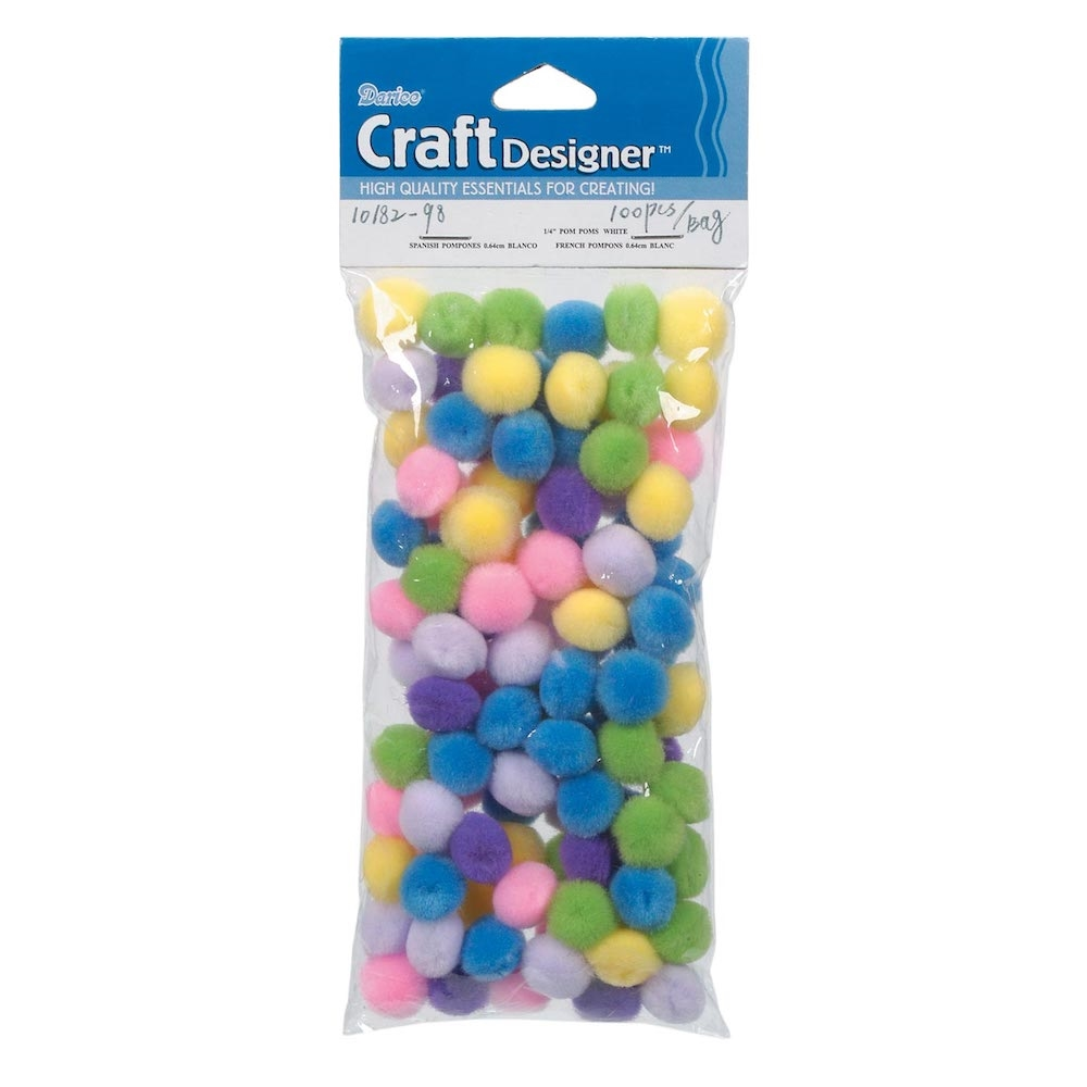 Darice Pom Poms SPRING ASSORTMENT 100 Pack 1018298 zoom image