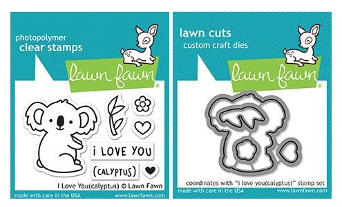 Lawn Fawn SET I LOVE YOU(CALYPTUS) Clear Stamps and Dies LF18ILY zoom image