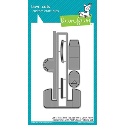 Lawn Fawn LET'S TOAST PULL TAB ADD-ON Lawn Cuts LF1822 Preview Image