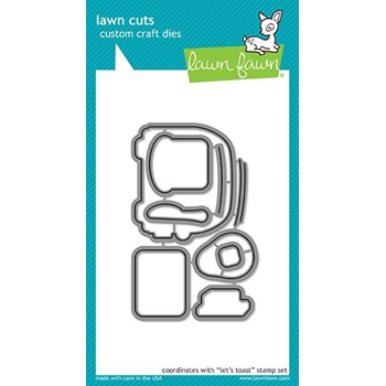 Lawn Fawn LET'S TOAST Die Cuts LF1821