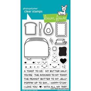 Lawn Fawn LET'S TOAST Clear Stamps LF1820