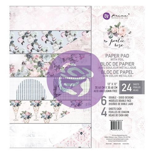 Prima Marketing POETIC ROSE 12 x 12 Paper Pad 631666 Preview Image