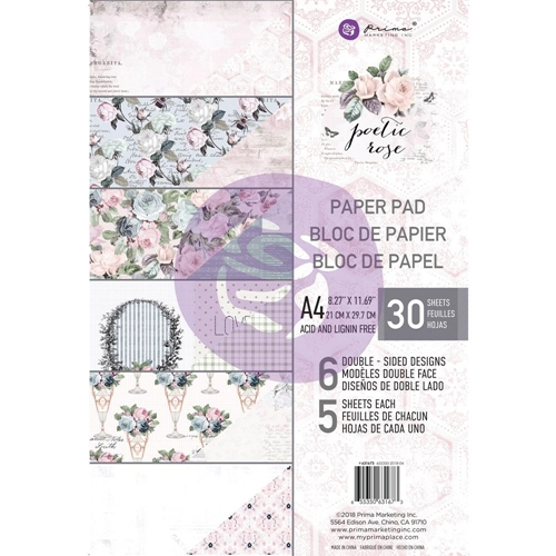 Prima Marketing A4 Paper Pad POETIC ROSE 631673* Preview Image