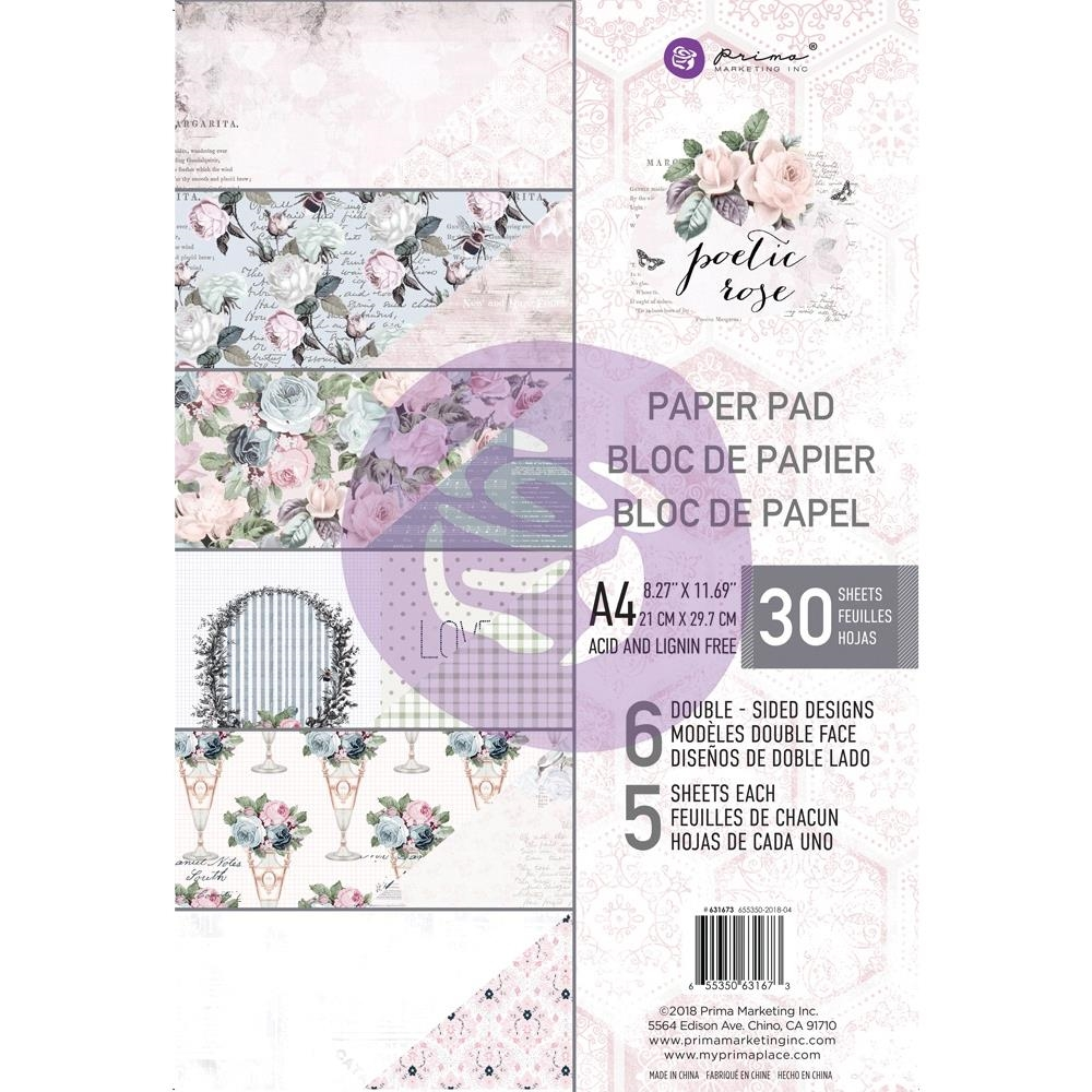Prima Marketing A4 Paper Pad POETIC ROSE 631673* zoom image