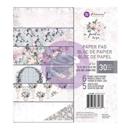 Prima Marketing POETIC ROSE 6 x 6 Paper Pad 631680 Preview Image