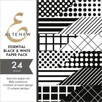 Altenew ESSENTIAL BLACK AND WHITE 6x6 Paper Pack ALT2890