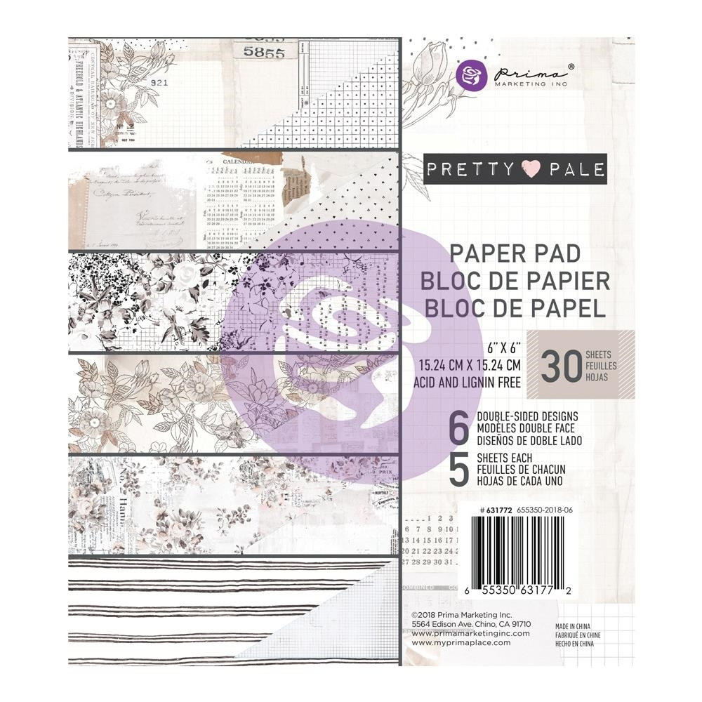 Prima Marketing PRETTY PALE 6 x 6 Paper Pad 631772 zoom image