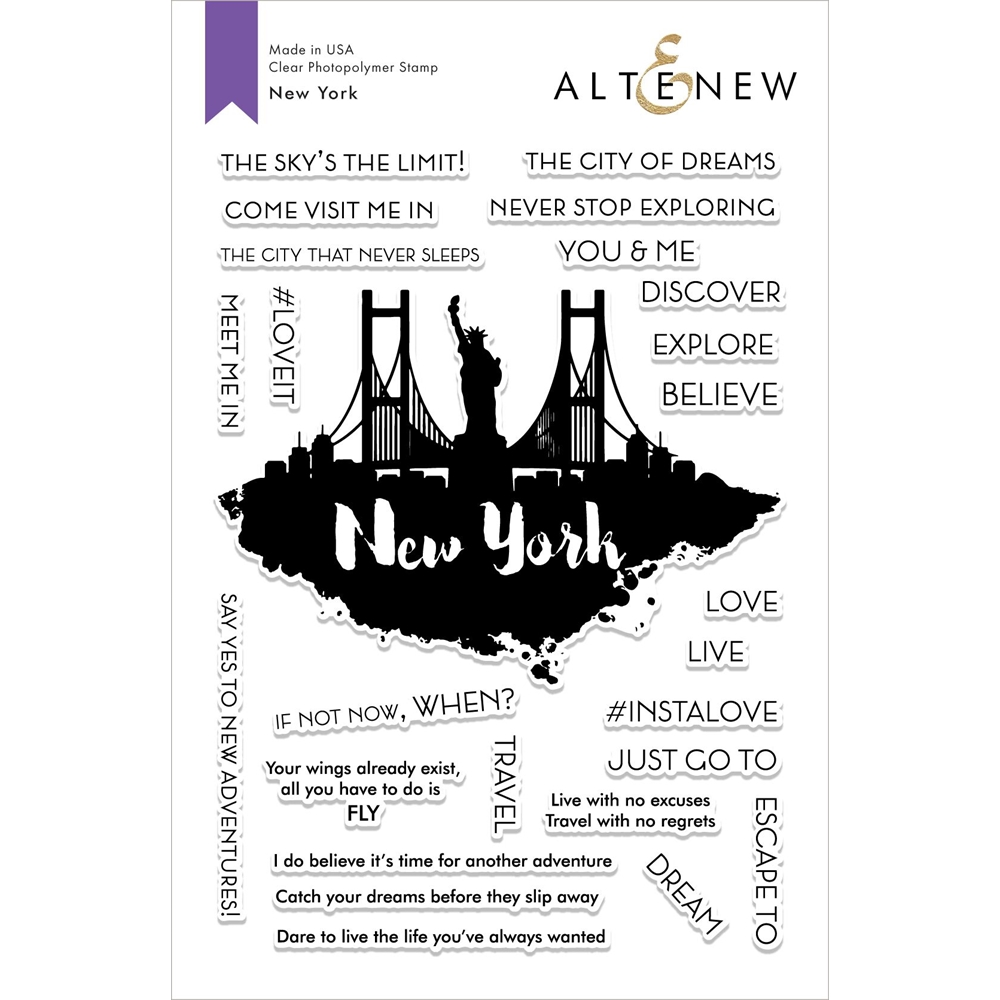 Altenew NEW YORK Clear Stamps ALT2857 zoom image