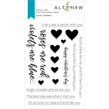 Altenew LOVE LETTERS Clear Stamps ALT2849