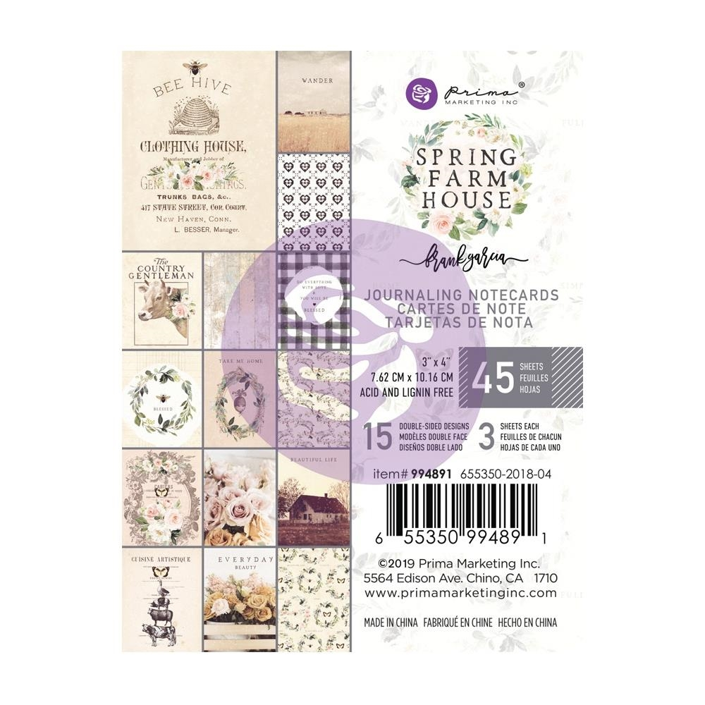 Prima Marketing SPRING FARMHOUSE 3 X 4 Journaling Cards Pad 994891 zoom image