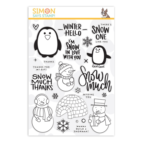Simon's Exclusive Snow Much Clear Stamp Set