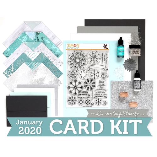 Simon Says Stamp Card Kit of The Month JANUARY 2019 SNOW MUCH ck0119 Preview Image
