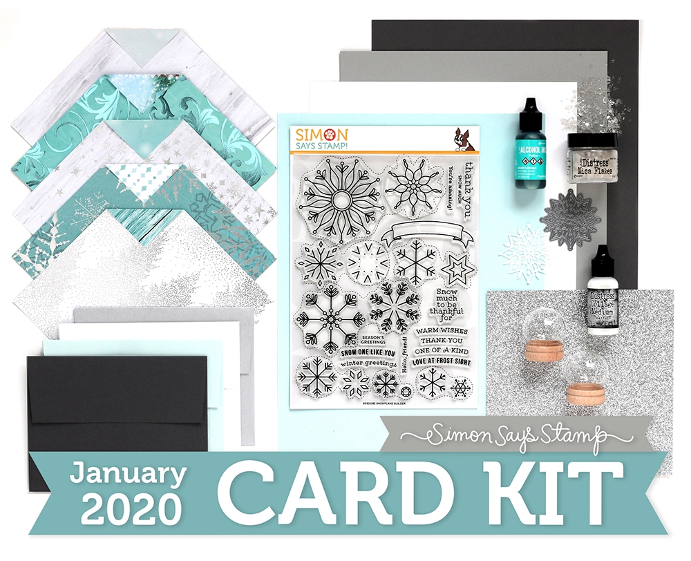 Simon Says Stamp Card Kit of The Month JANUARY 2019 SNOW MUCH ck0119 zoom image