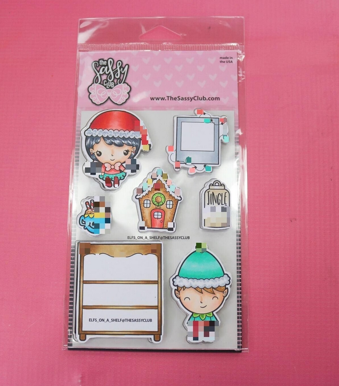The Sassy Club ELFS ON A SHELF Clear Stamps TSCL202* zoom image