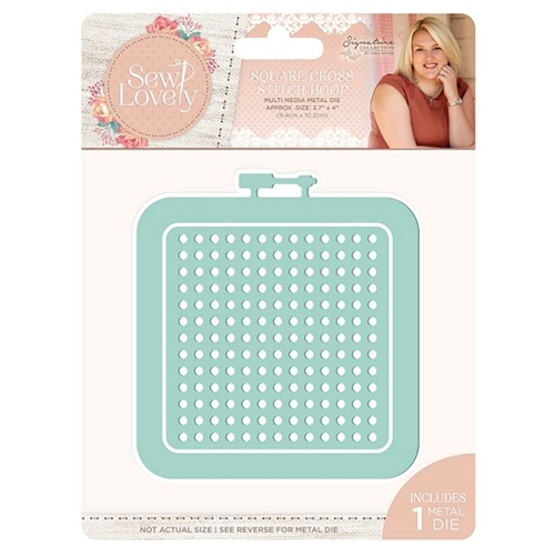 Crafter's Companion SQUARE CROSS STITCH HOOP Sew Lovely Metal Die s-sl-mmd-scsh Preview Image