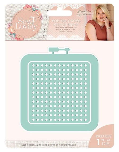 Crafter's Companion SQUARE CROSS STITCH HOOP Sew Lovely Metal Die s-sl-mmd-scsh zoom image