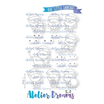 Atelier Dreams LITTLE SANTAS Clear Stamp Set ad088