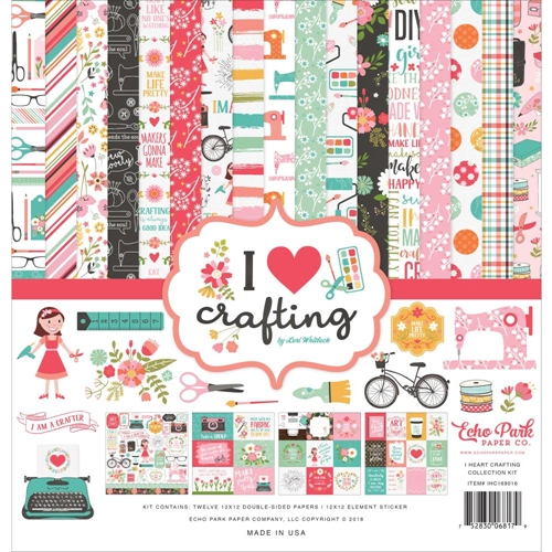 Echo Park I HEART CRAFTING 12 x 12 Collection Kit ihc169016 Preview Image