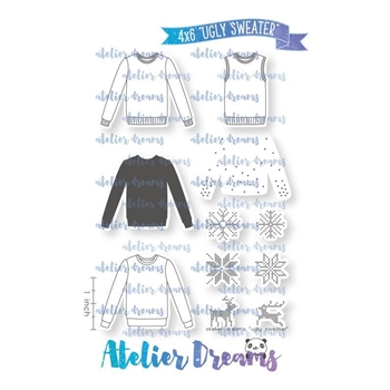 Atelier Dreams UGLY SWEATER Clear Stamp Set ad087