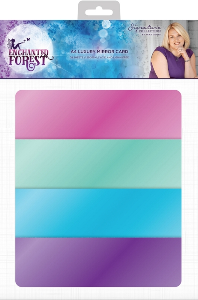 Crafter's Companion ENCHANTED FOREST A4 Luxury Mirror Cardstock s-ef-mirror zoom image