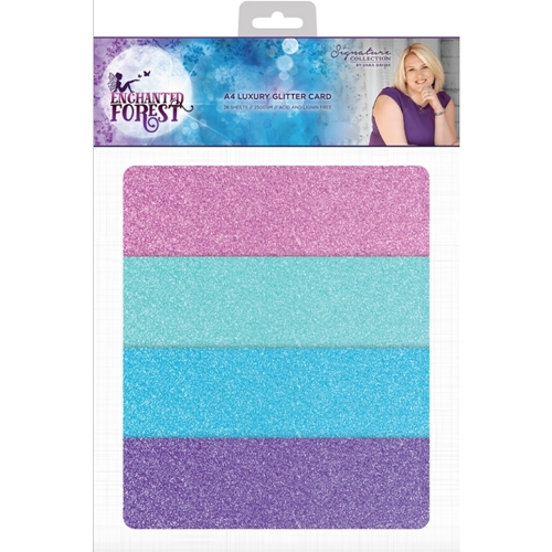 Crafter's Companion ENCHANTED FOREST A4 Luxury Glitter Cardstock s-ef-glitter Preview Image