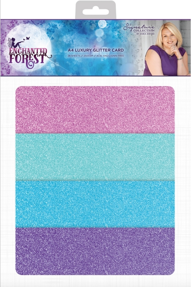 Crafter's Companion ENCHANTED FOREST A4 Luxury Glitter Cardstock s-ef-glitter zoom image