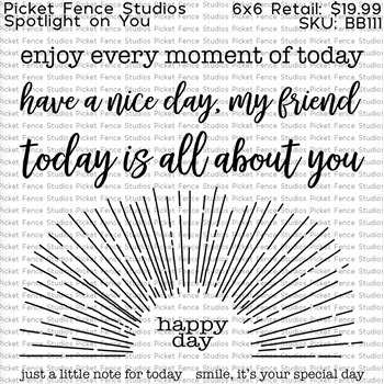 Picket Fence Studios SPOTLIGHT ON YOU Clear Stamps bb111*