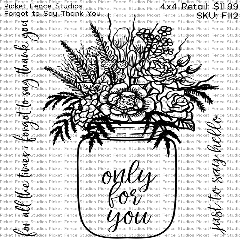 Picket Fence Studios FORGOT TO SAY THANK YOU Clear Stamps f112 zoom image