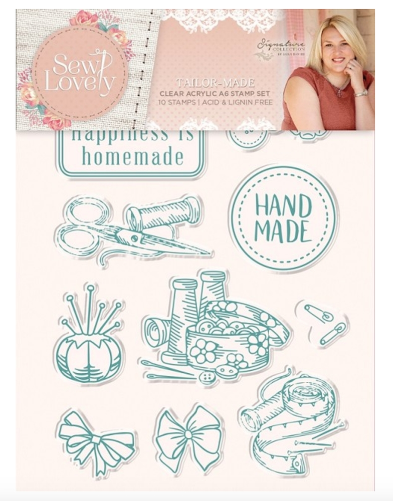 Crafters Companion Sew Lovely - Tailor Made Clear Stamp Set