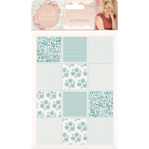 Crafter's Companion PRETTY PATCHWORK Embossing Folder Sew Lovely s-sl-ef5-ppat Preview Image