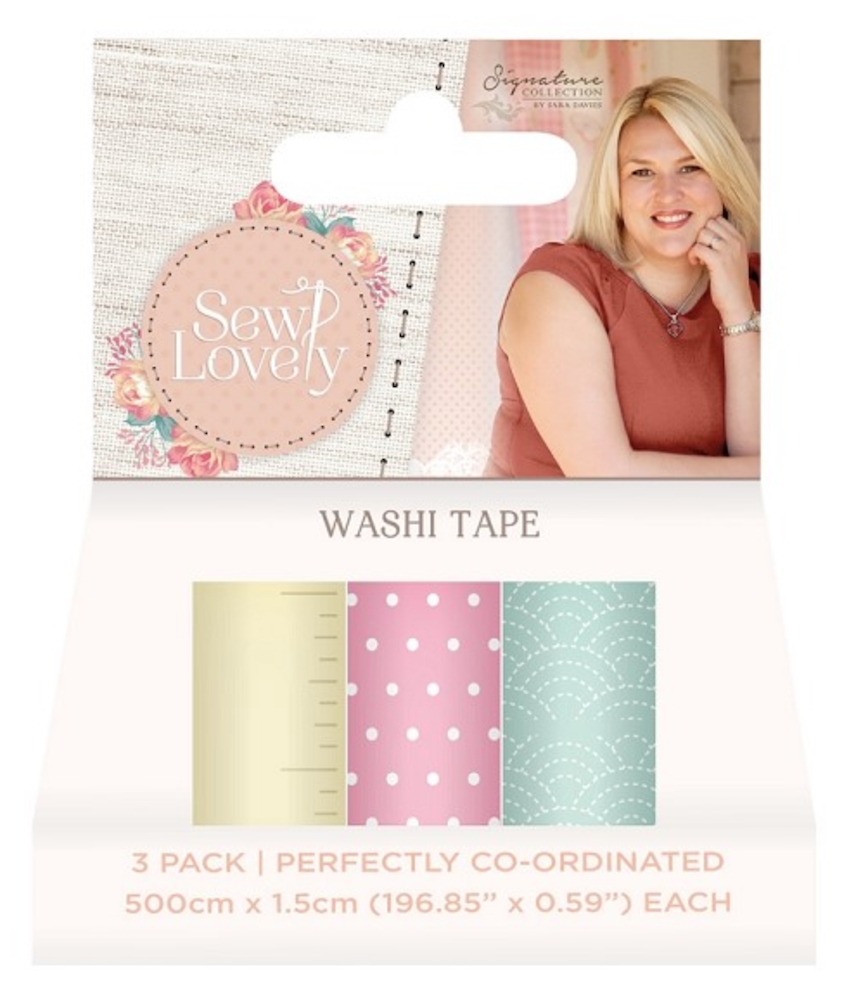Crafter's Companion SEW LOVELY Washi Tape s-sl-washi* zoom image