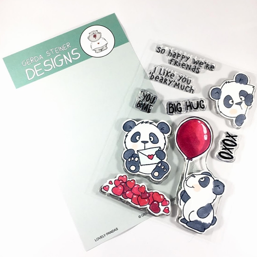Gerda Steiner Designs LOVELY PANDAS Clear Stamp Set gsd663 Preview Image