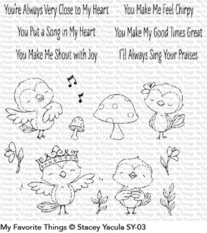 My Favorite Things TWEET FRIENDS Clear Stamps SY03 Preview Image