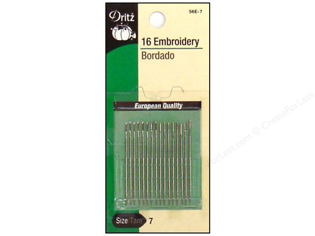 Dritz 16 EMBROIDERY NEEDLES Size 7 56e7 zoom image